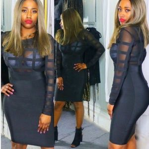 Dresses & Skirts - Black Bandage Dress